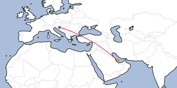 Distance Between Zagreb And Doha