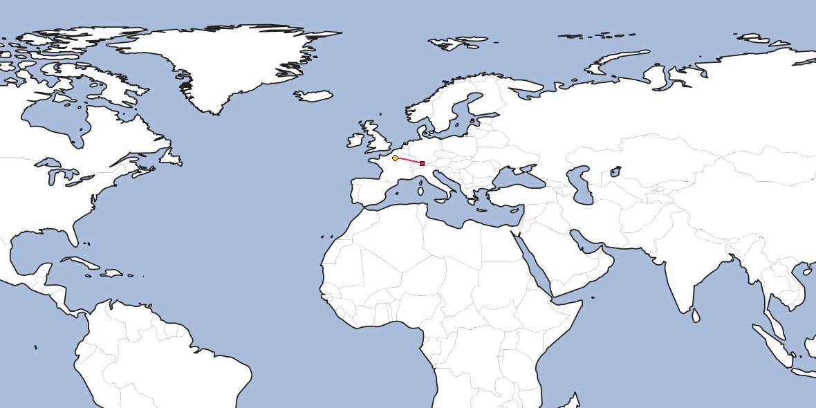 Distance between Heiden and Paris