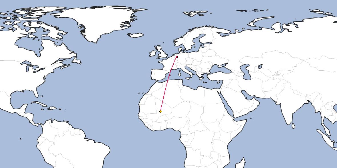 Timbuktu Location On World Map.Distance Between Velbert And Timbuktu