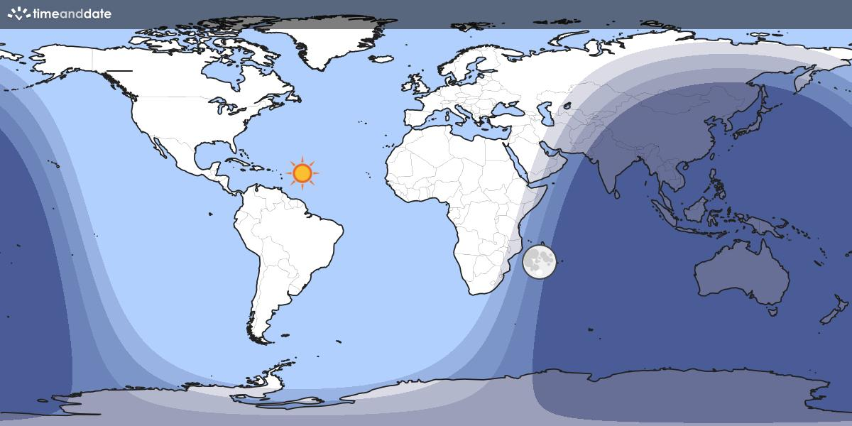 World Sun Light Map
