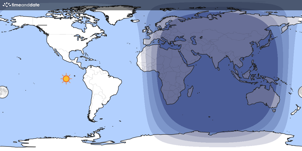 Day And Night World Map - Image of the world map