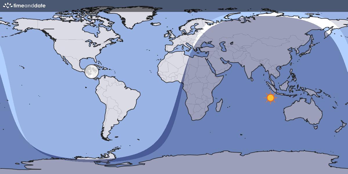Moon Light World Map