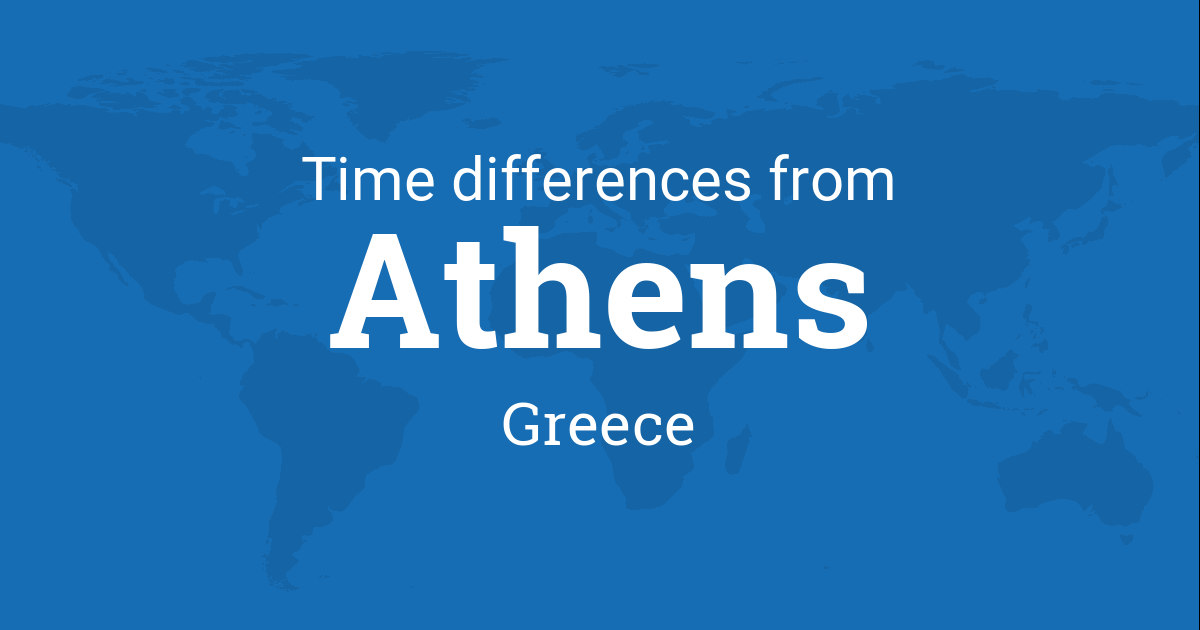 Time difference between Athens, Greece and the world