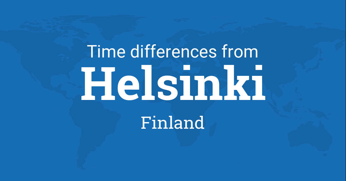 Time difference between helsinki finland and the world sciox Gallery