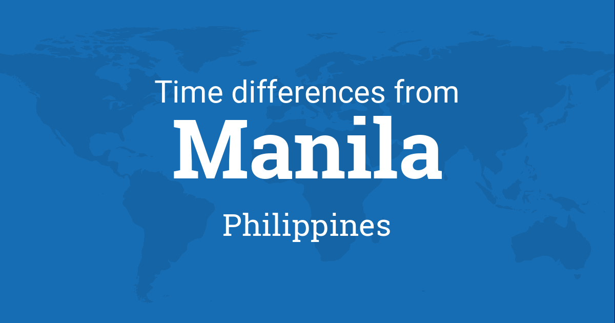time difference between manila philippines and the world. Black Bedroom Furniture Sets. Home Design Ideas