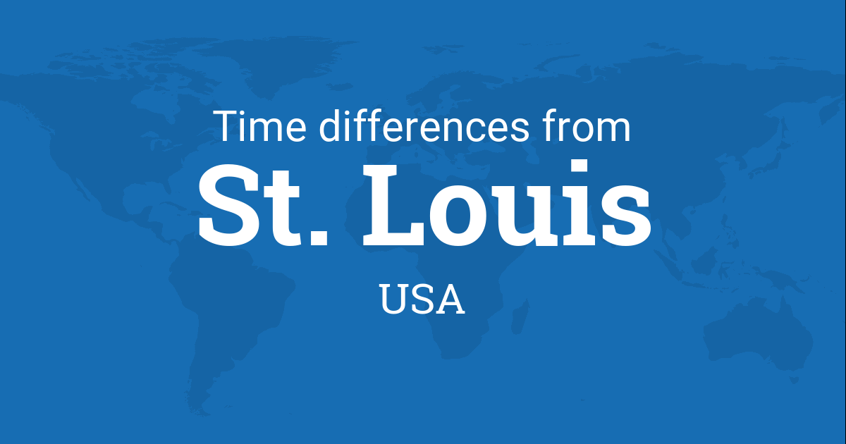 time difference between st louis missouri usa and the world. Black Bedroom Furniture Sets. Home Design Ideas