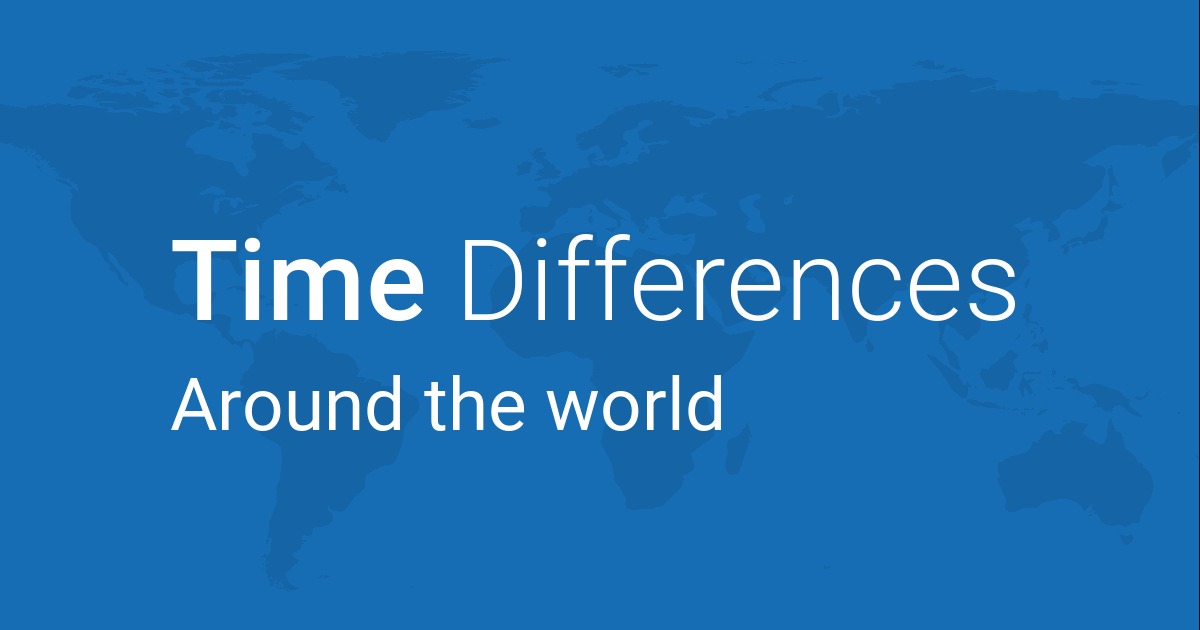Time Differences — Between a Location and Rest of the World